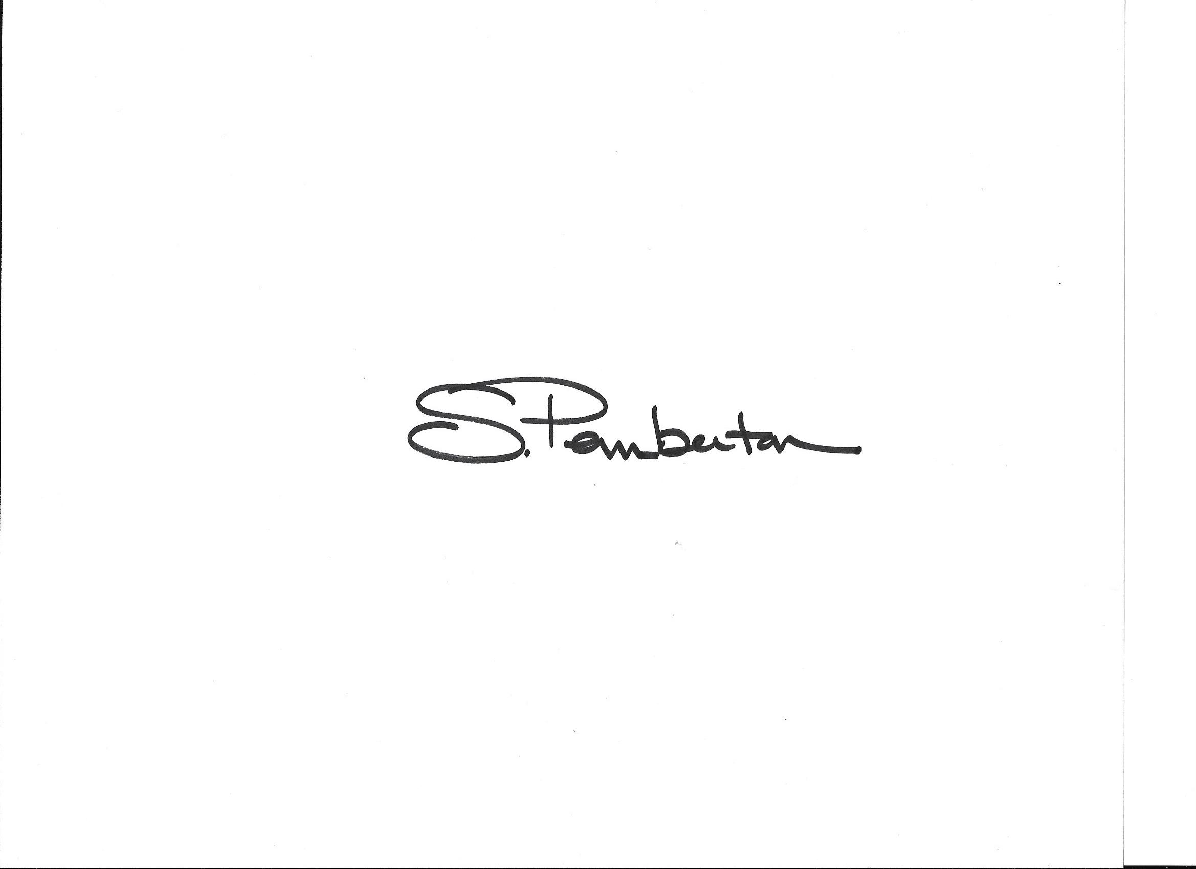 Suzanne Pemberton Signature