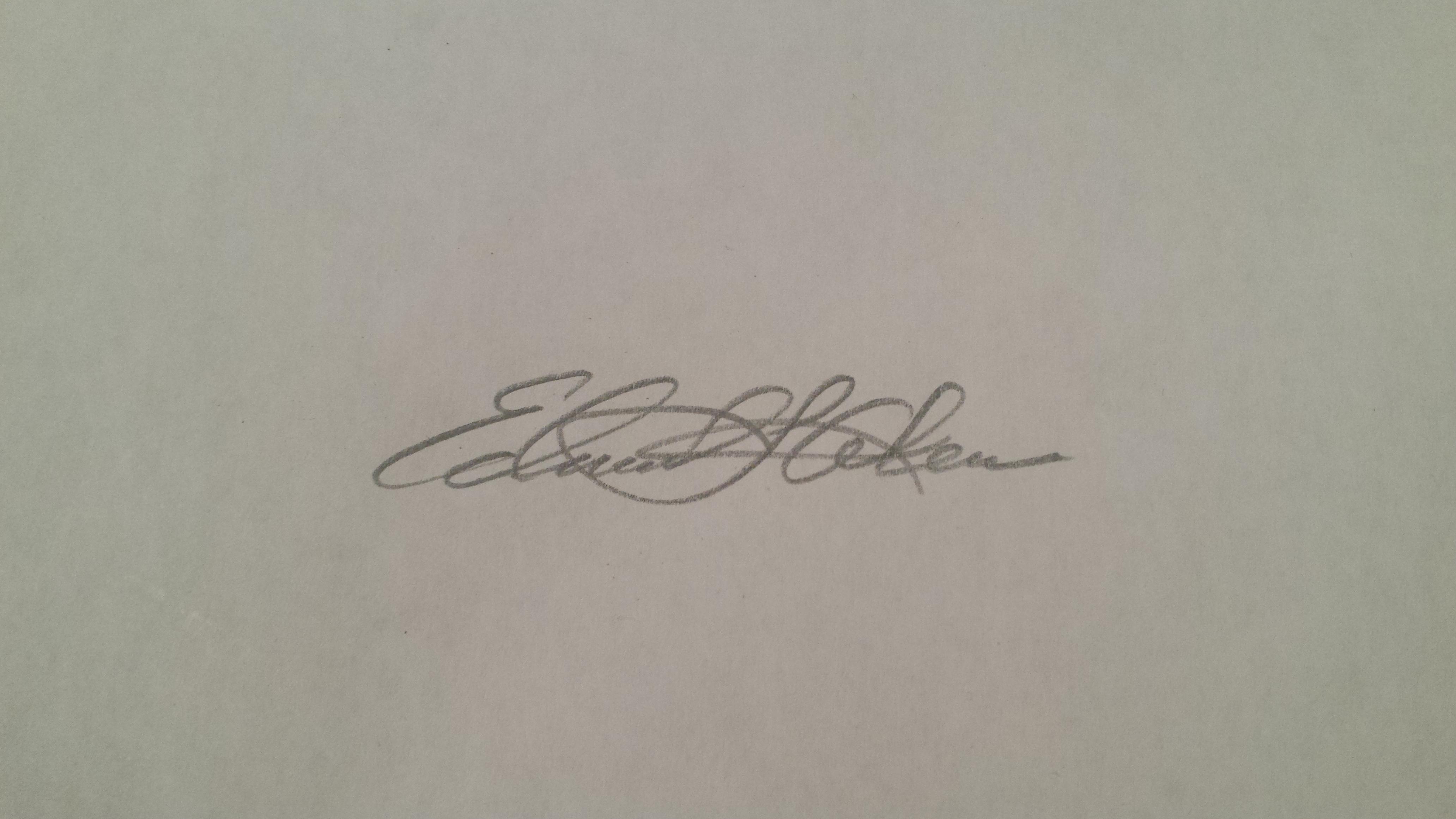 Edmund Akers Signature