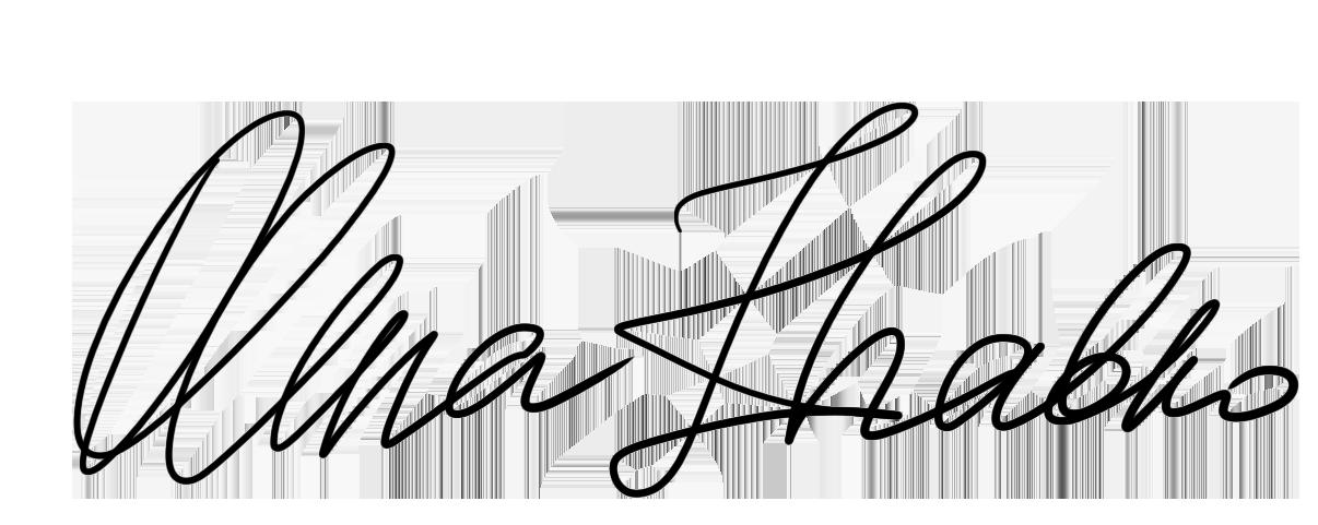 Olena Zhabko Signature