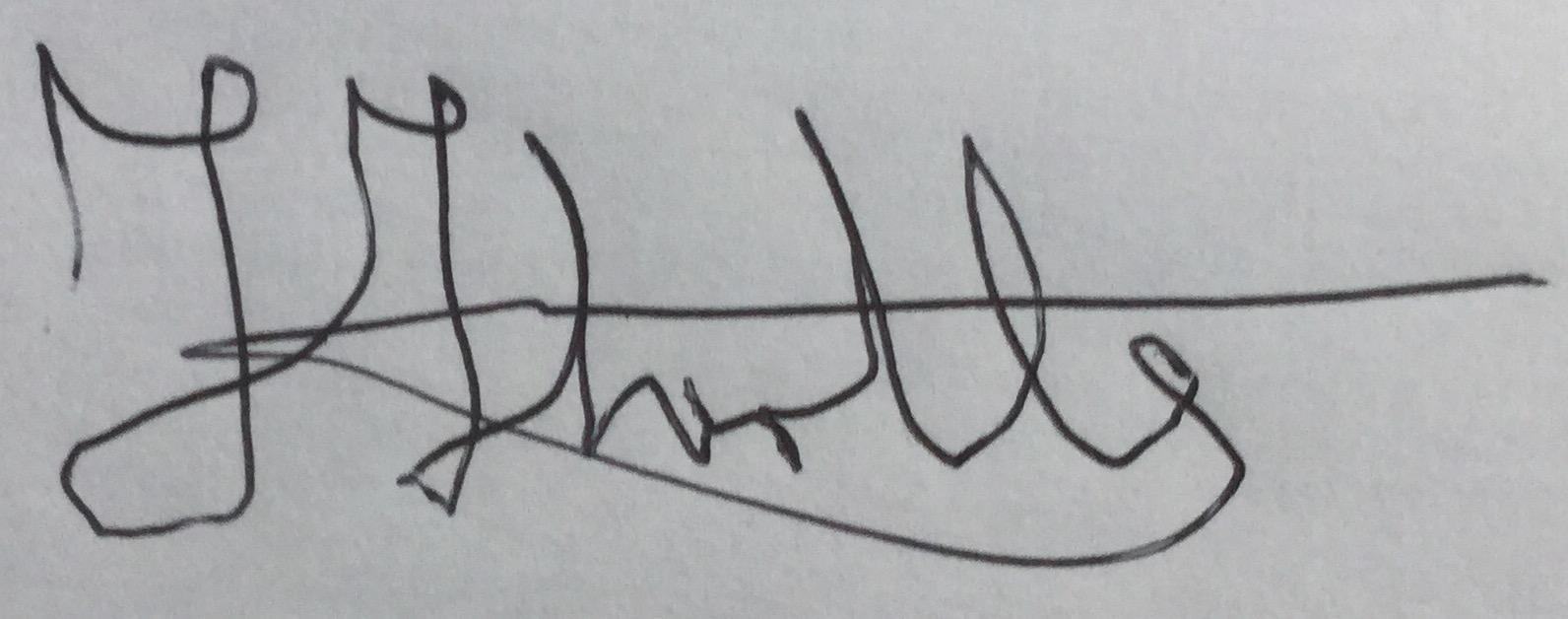Felicity Thirtle Signature