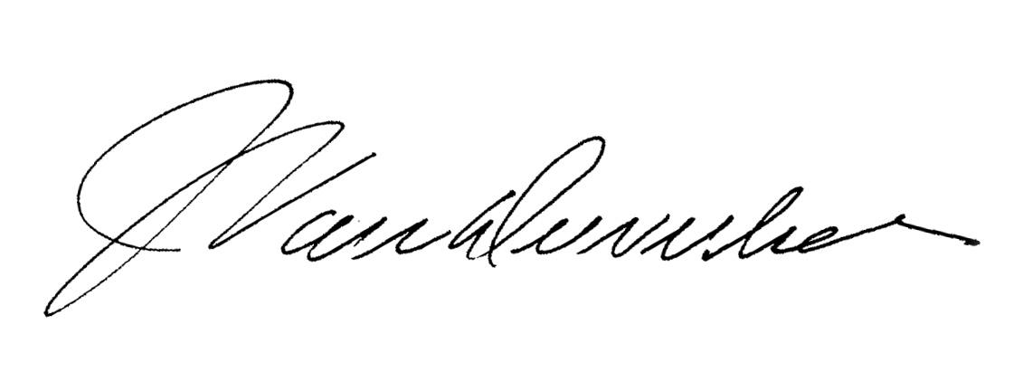 JoHn VanDewerker Signature