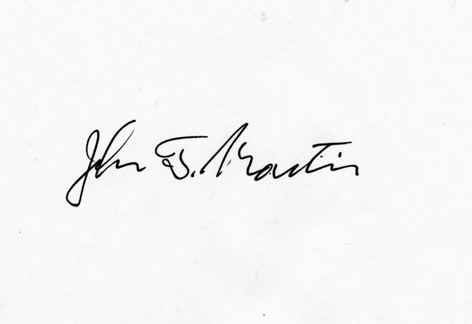 John Martin Signature