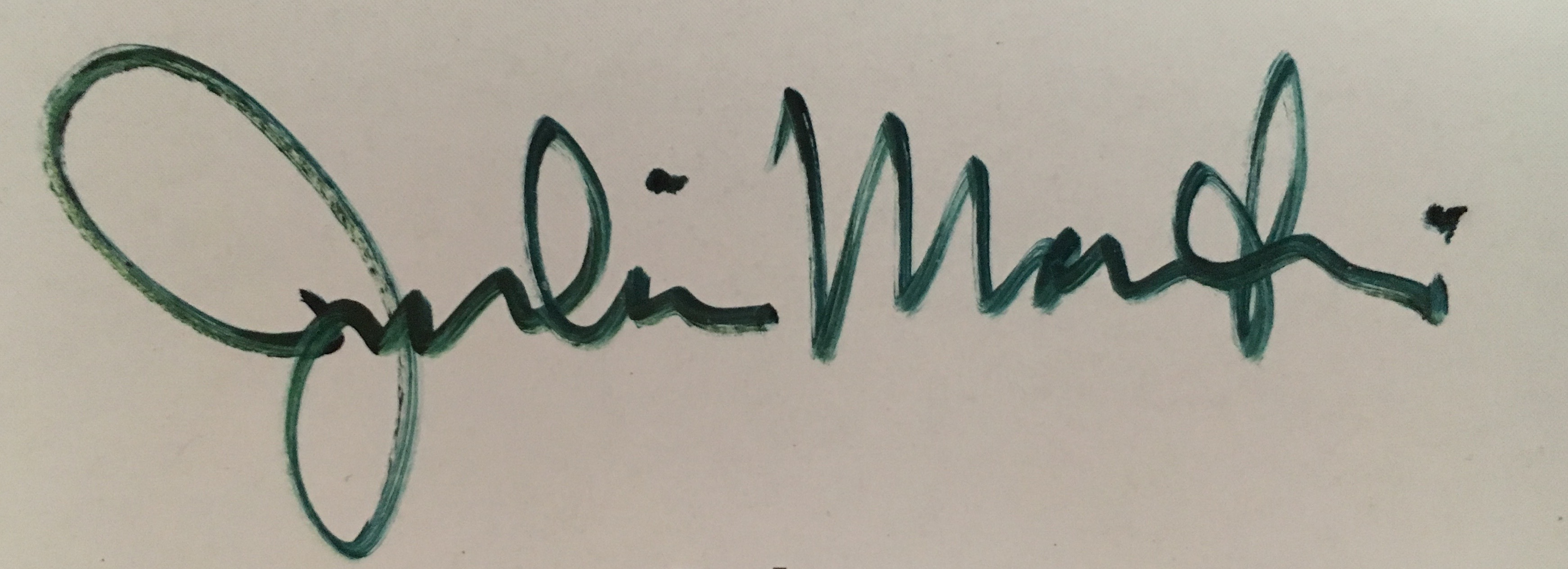 Julie Martin Signature
