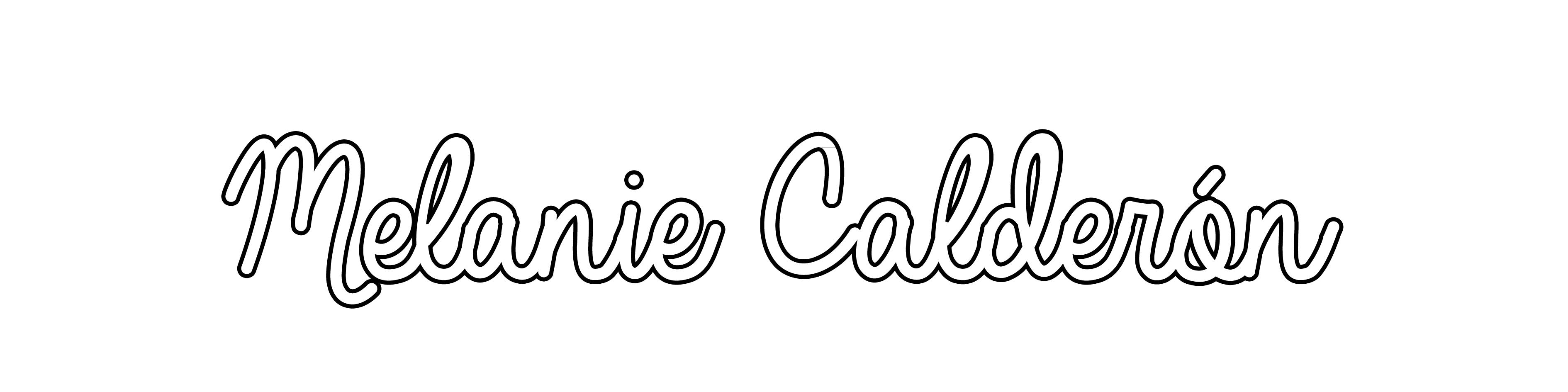 Melanie  Calderón Signature