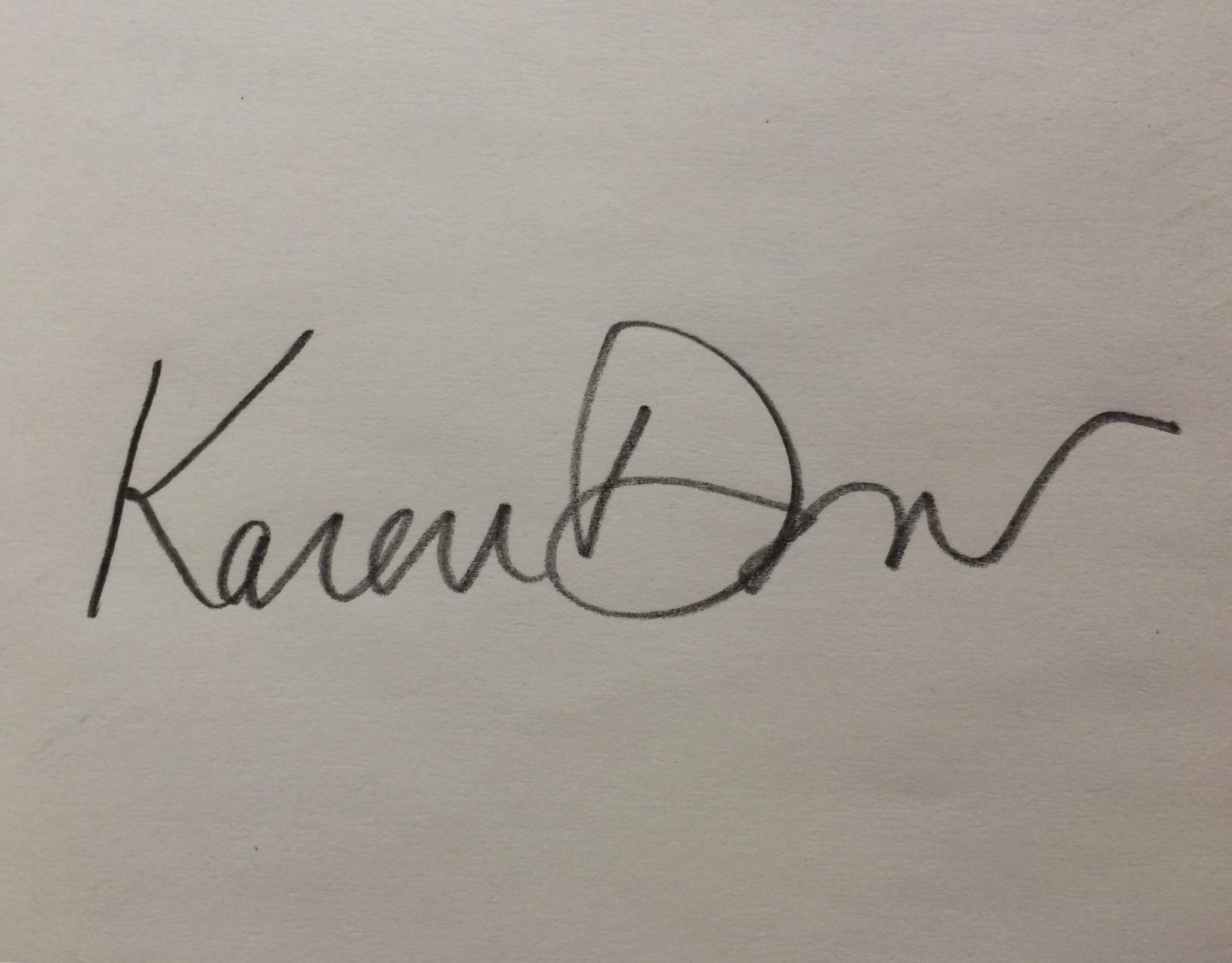 Karen Dow Signature