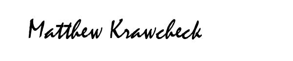 Matthew Krawcheck Signature