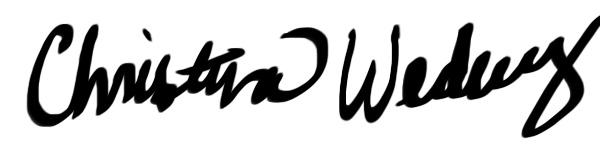 Christina Wedberg Signature
