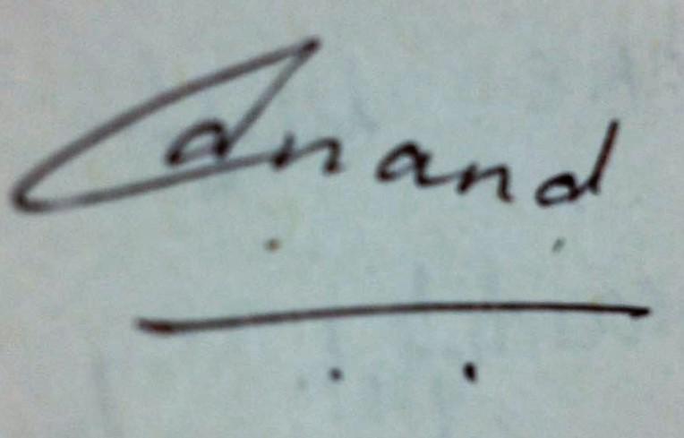 Anand Agarwal Signature