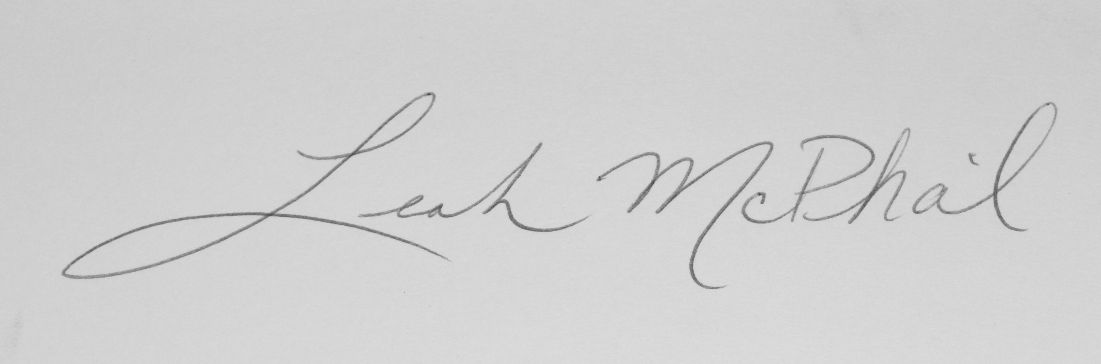 Leah McPhail Signature