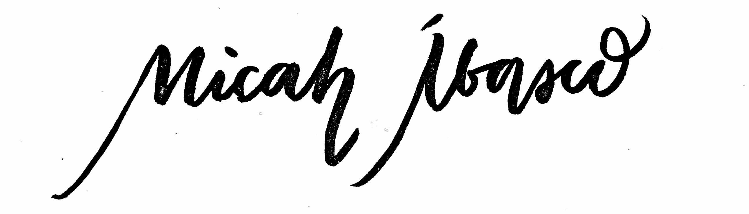 Micah Eunice Ibasco Signature