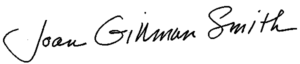 Joan Gillman Smith Signature
