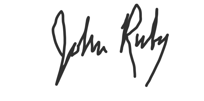 john ruby Signature