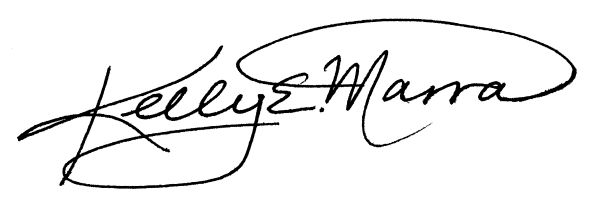 Kelly e. Marra Signature