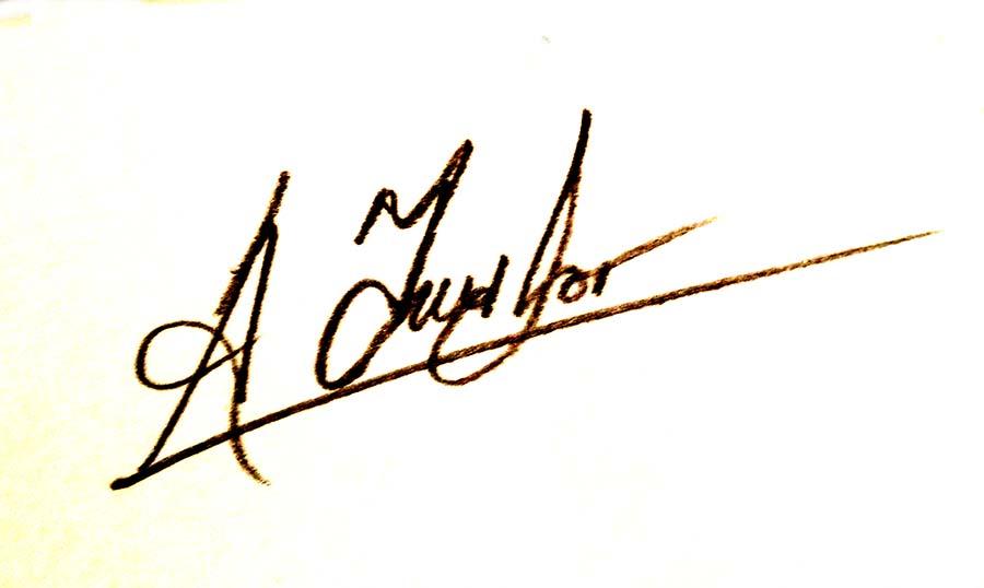 Alan Taylor Signature