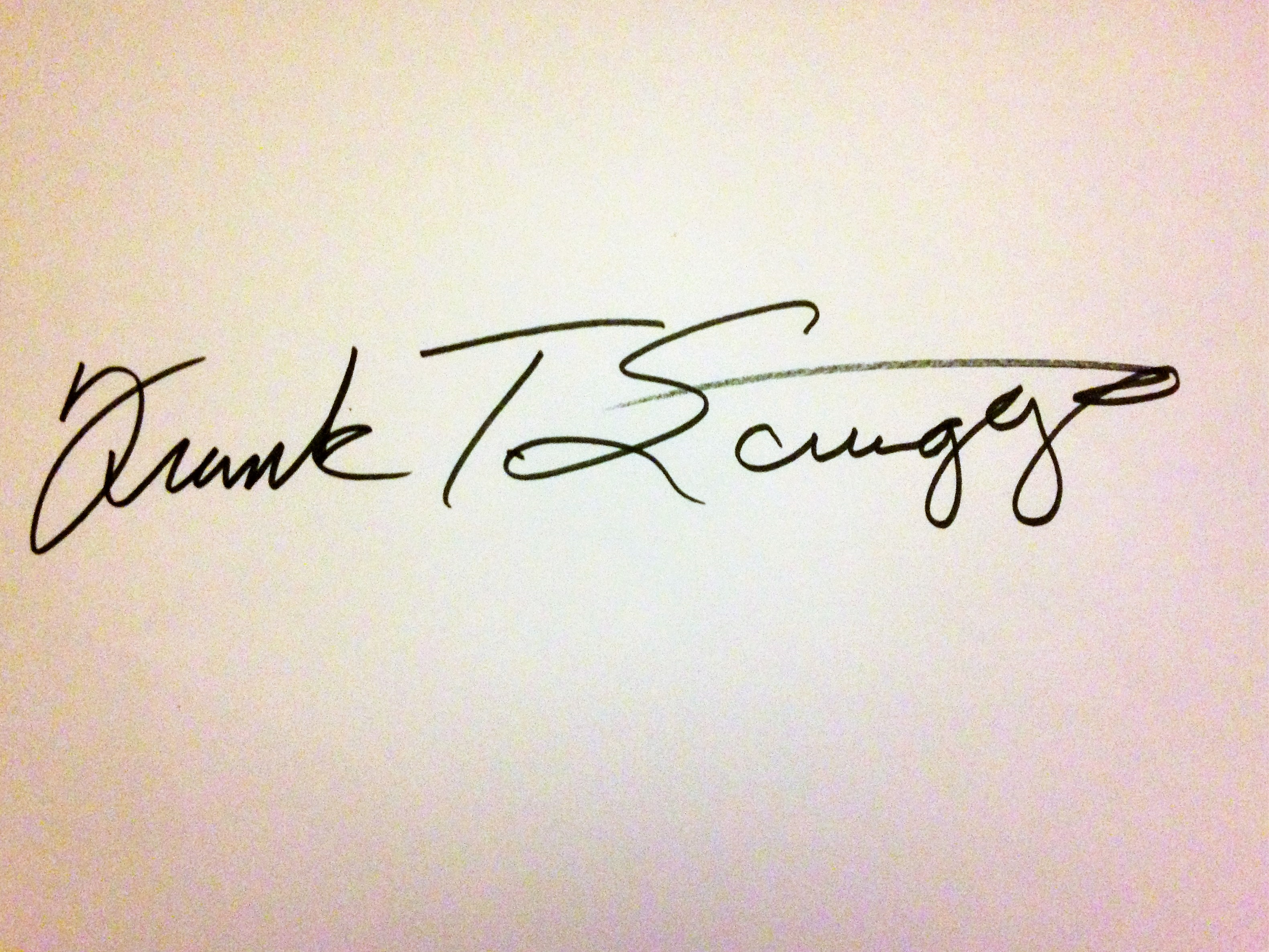 Frank Scruggs Signature
