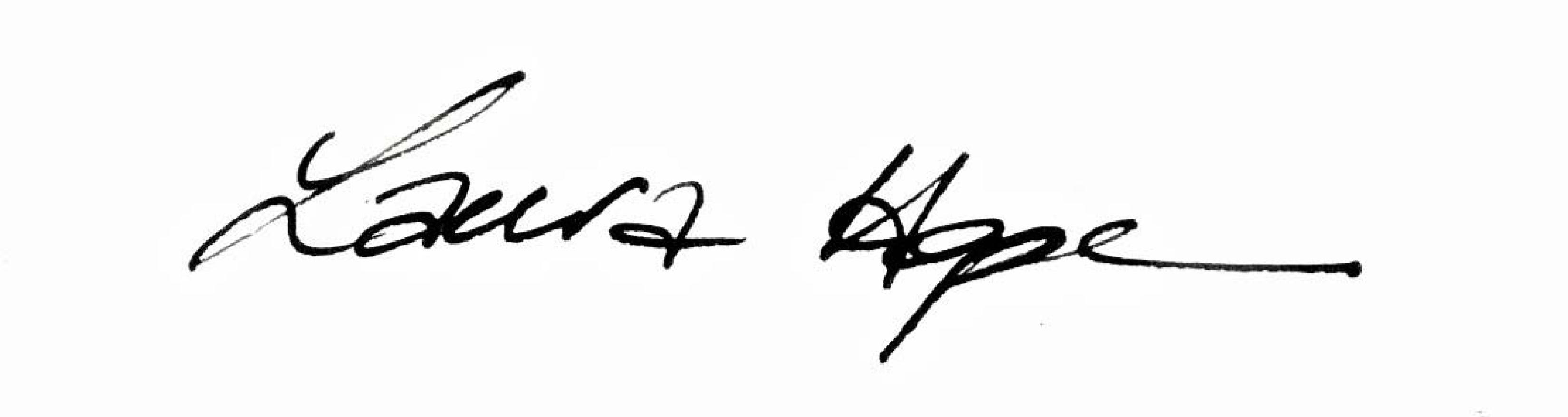 Laura Hope Selbie Signature