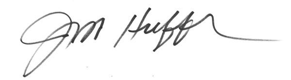 James Huffer Signature