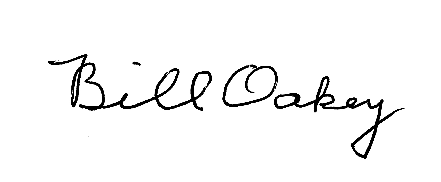 Bill Oakey Signature