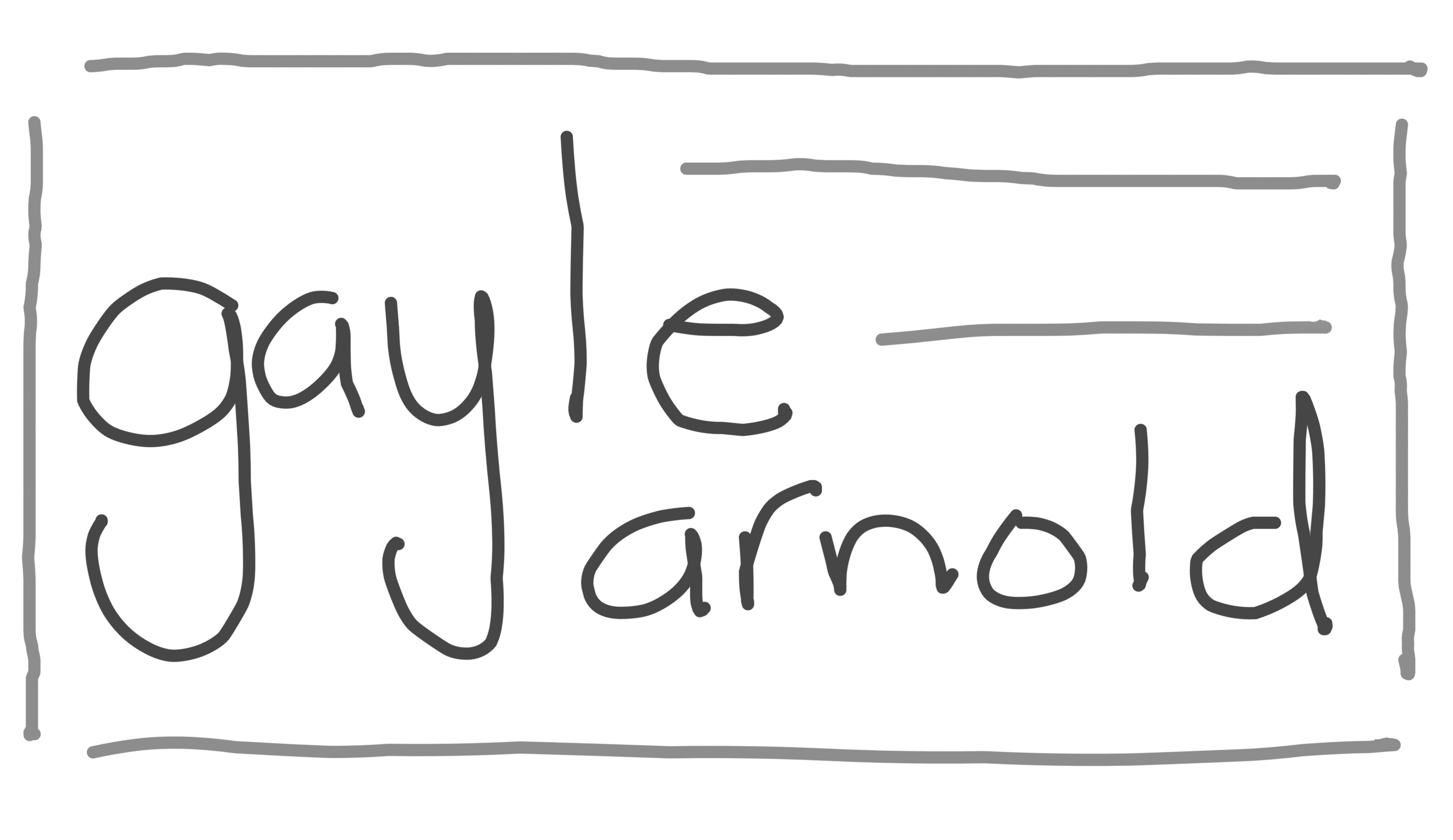 Gayle Arnold Signature