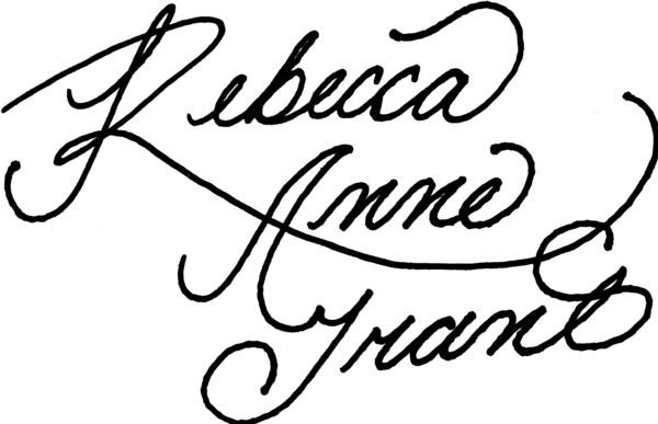 Rebecca Grant Signature