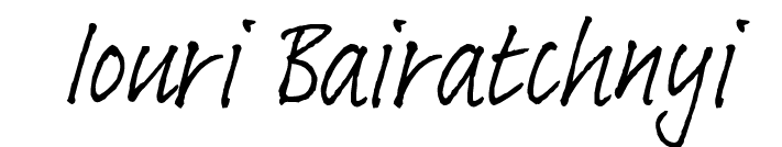 Iouri Bairatchnyi Signature