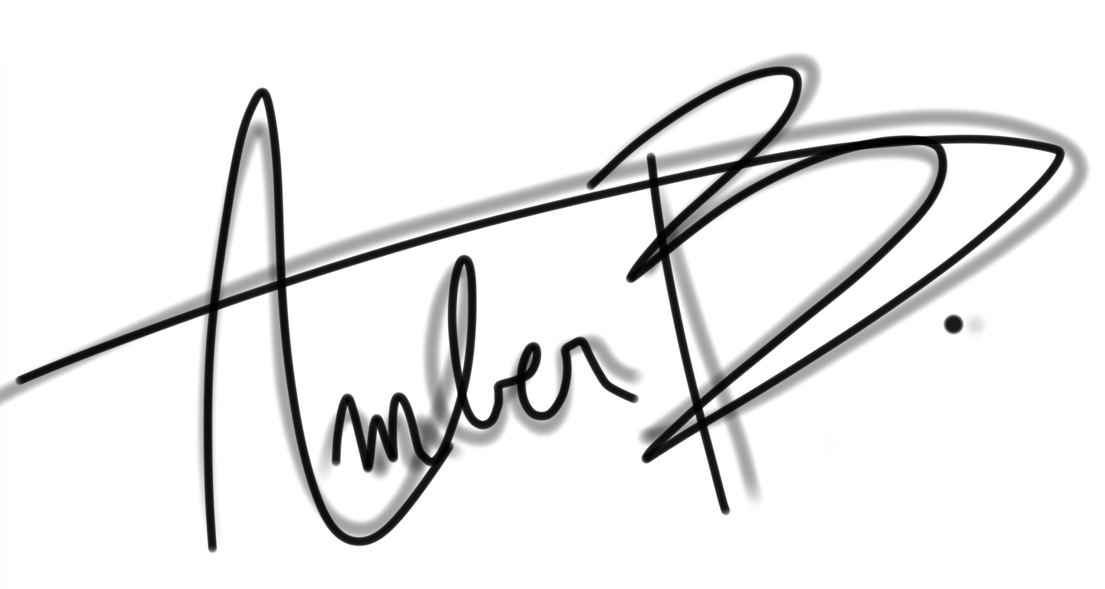 Amber Burlet Signature