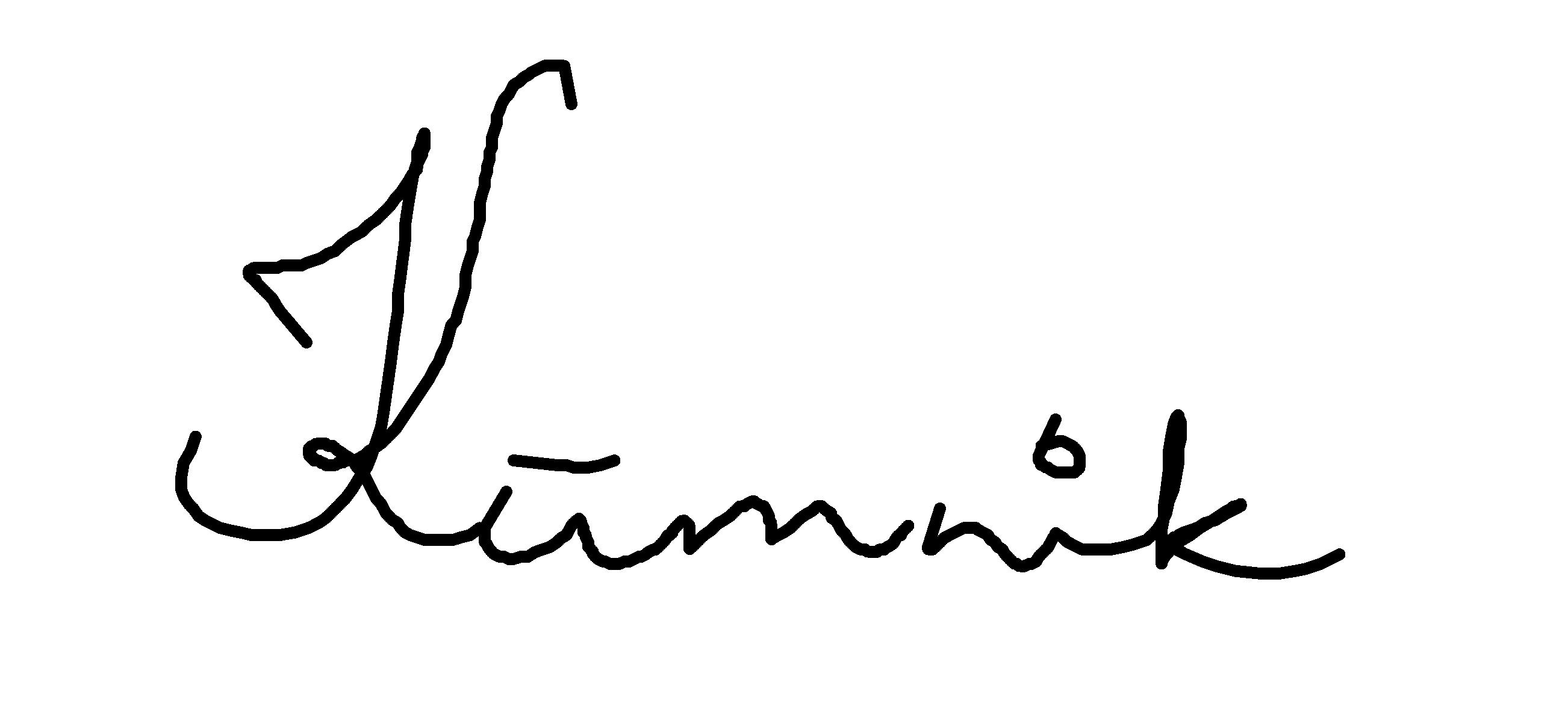Maret Kümnik Signature