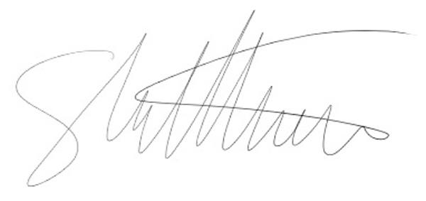Shaun Matthews Signature