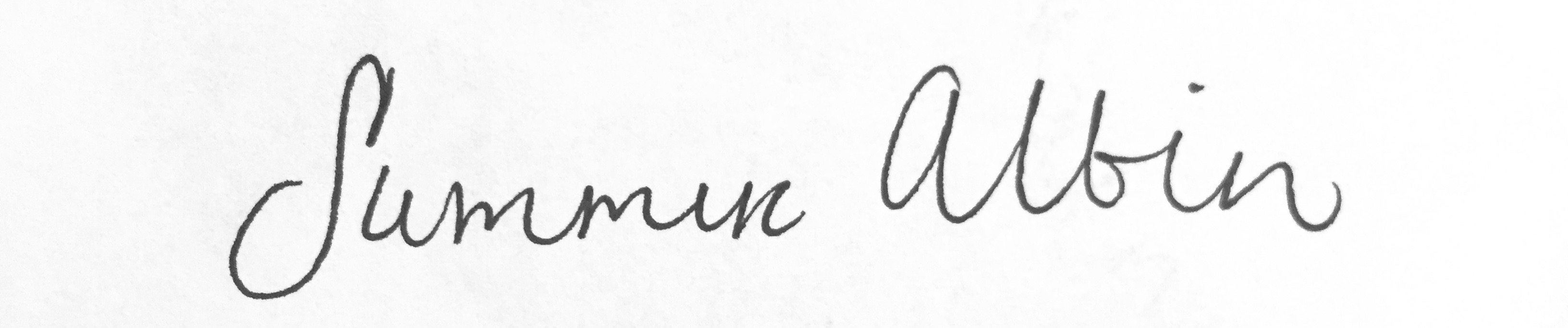 Summer Albin Signature