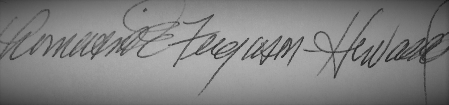 Thomasina Ferguson-Howard Signature