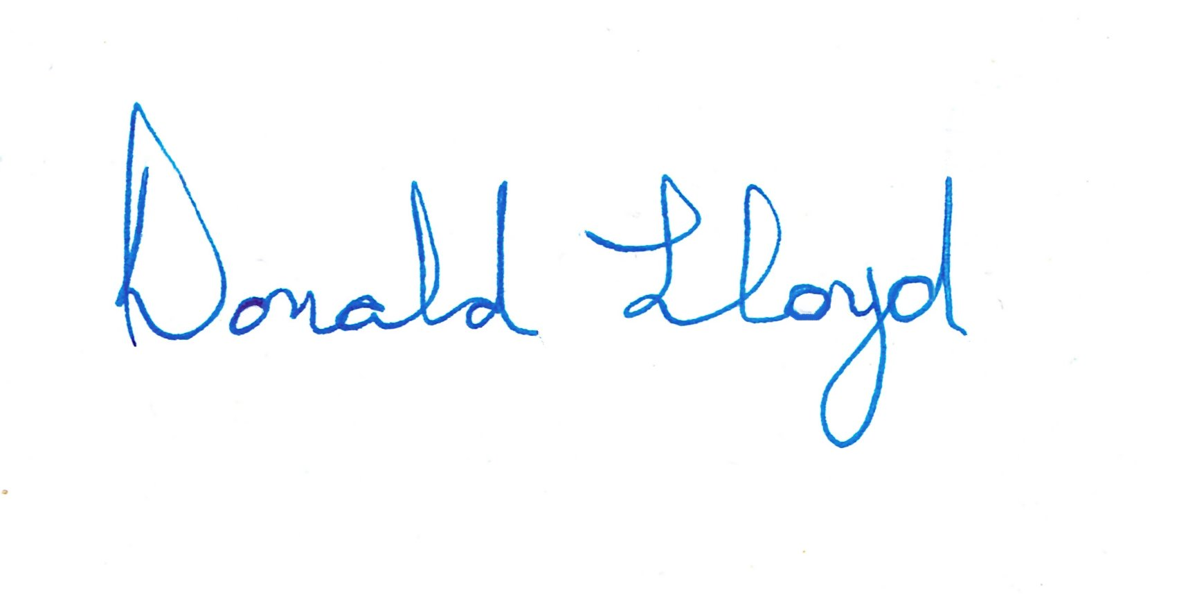 Donald Lloyd Signature