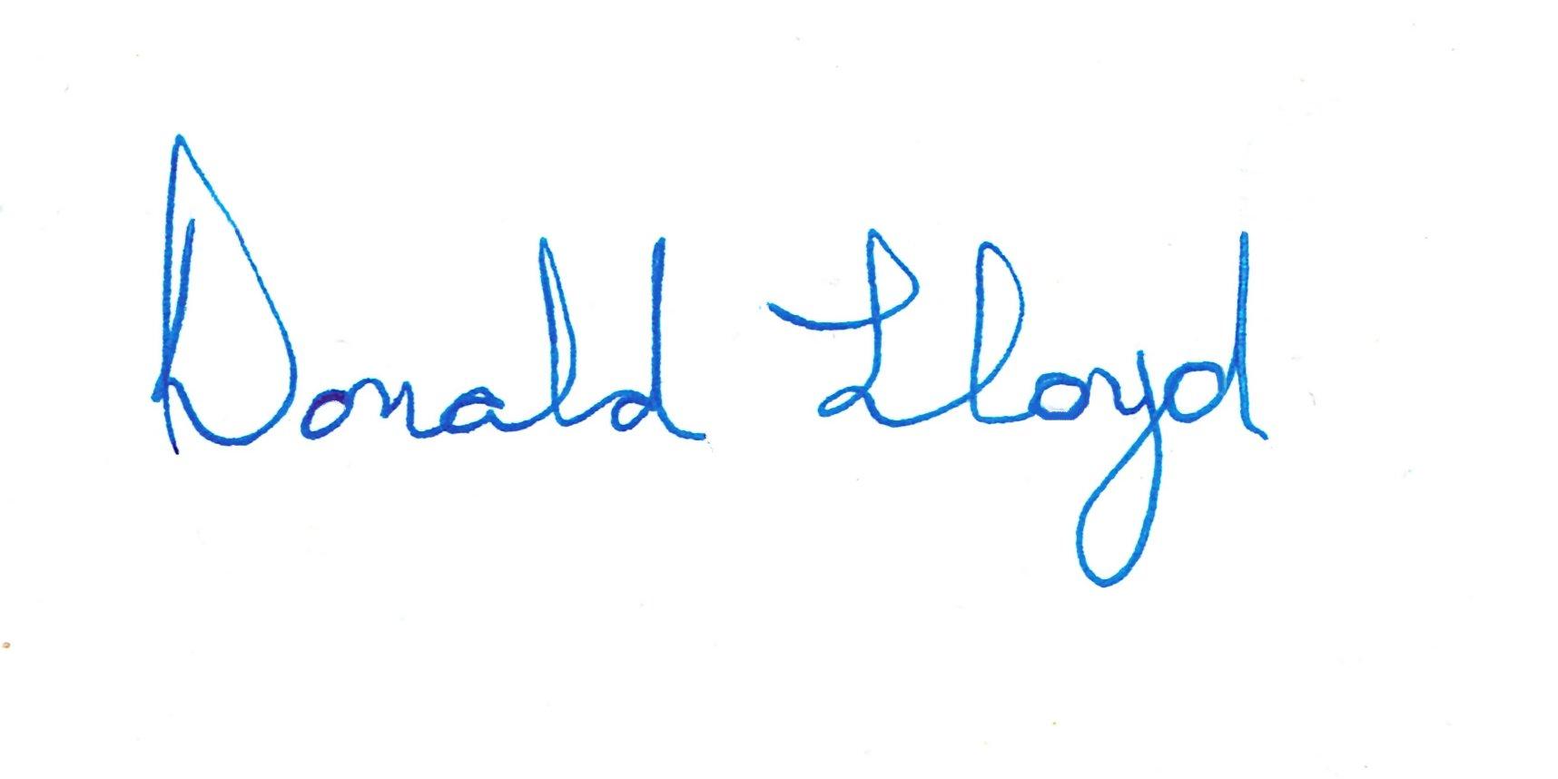 Donald Lloyd Signature
