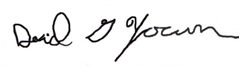 David Yocum Signature