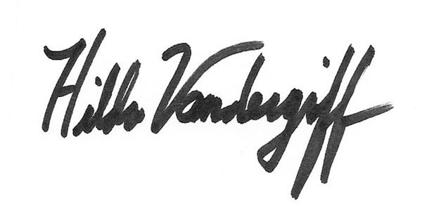 Hilda Vandergriff Signature
