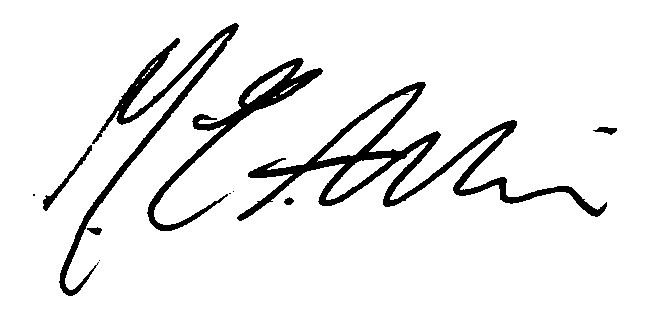 Michael Aslin Signature