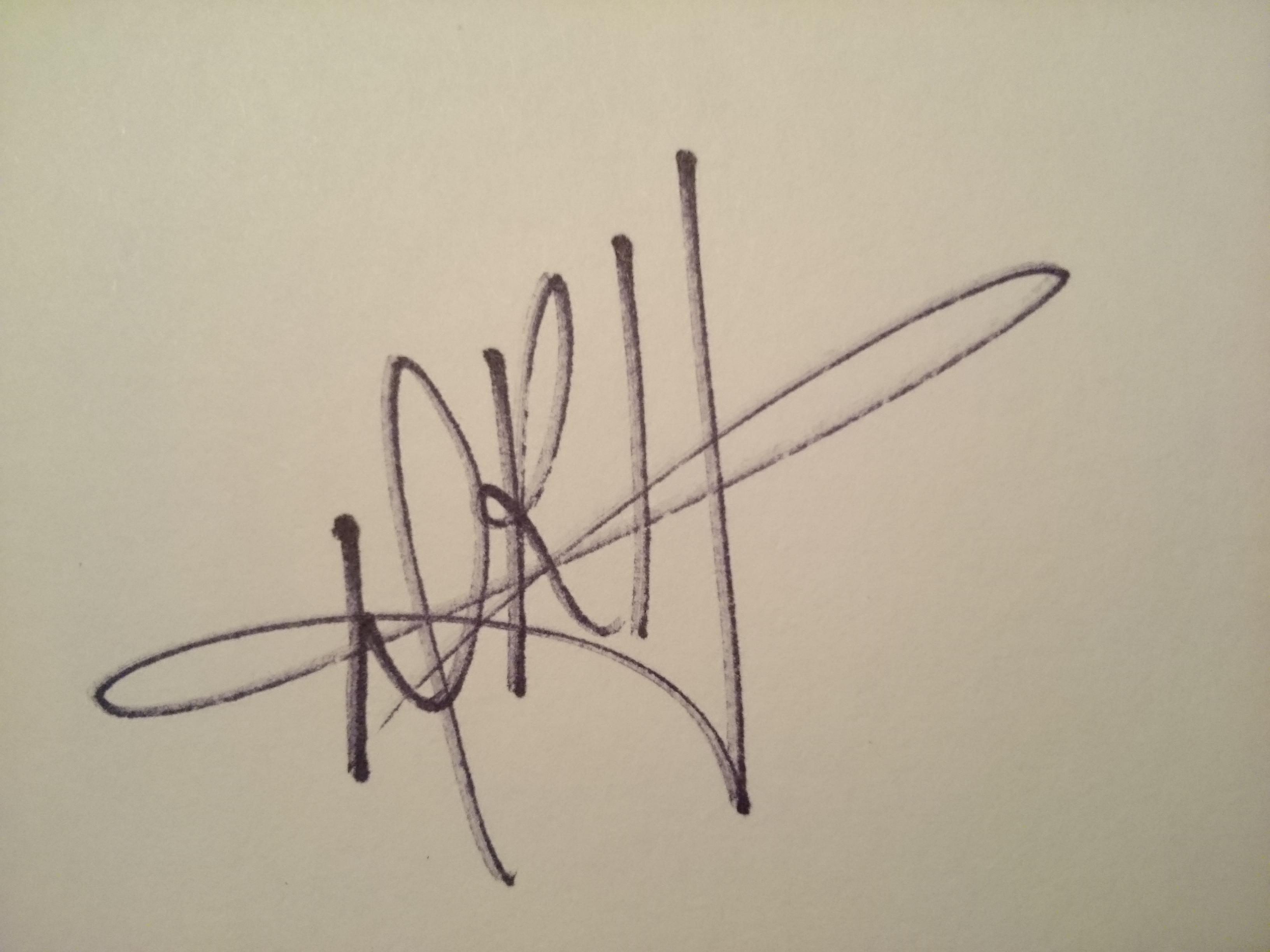Donna Huckleberry Signature