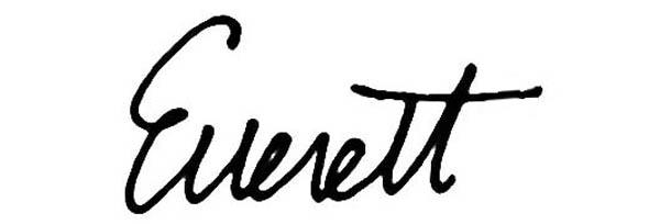 Everett E Henderson Jr Signature