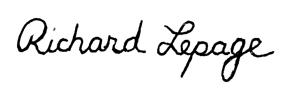 Richard Lepage Signature