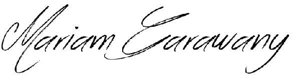 MARIAM Garawany Signature