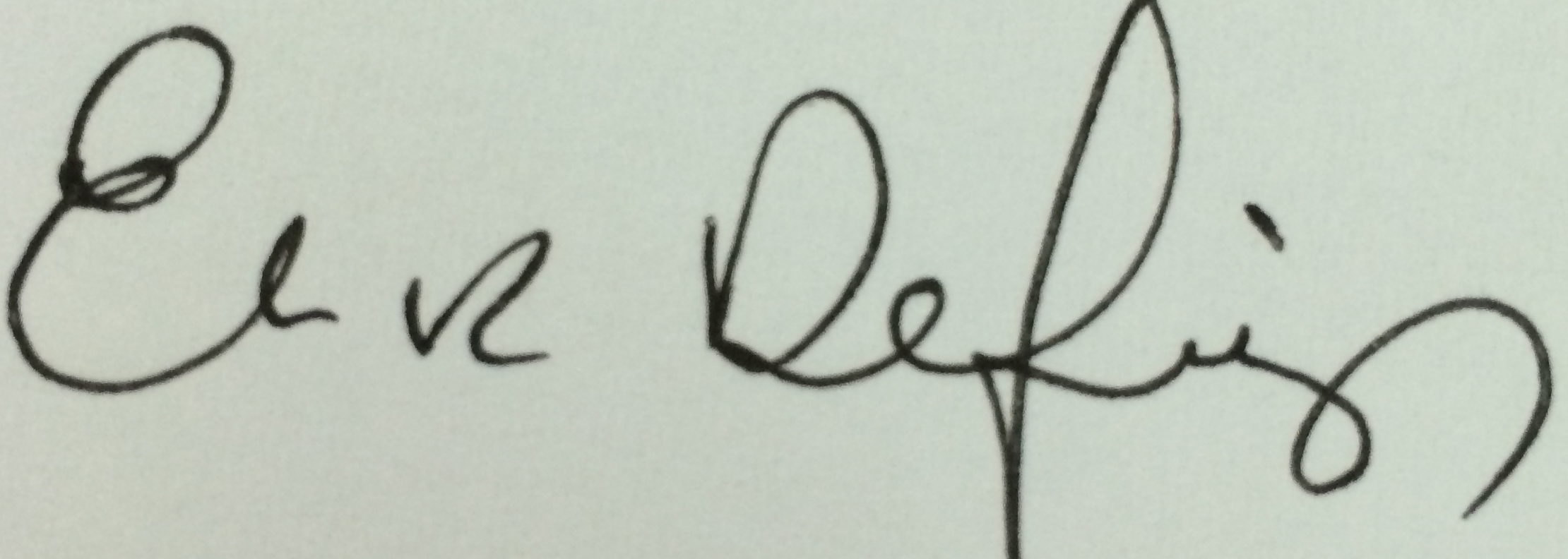 Elaine Defibaugh Signature