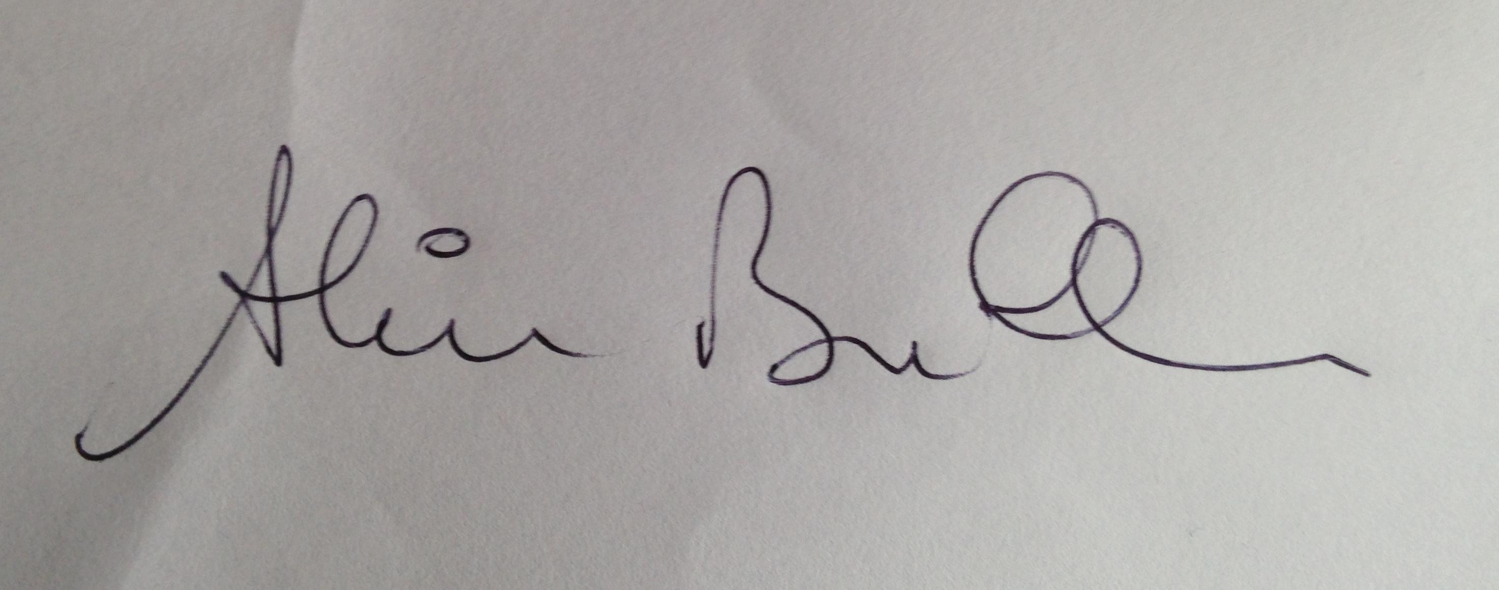 ALAIN BULLE Signature