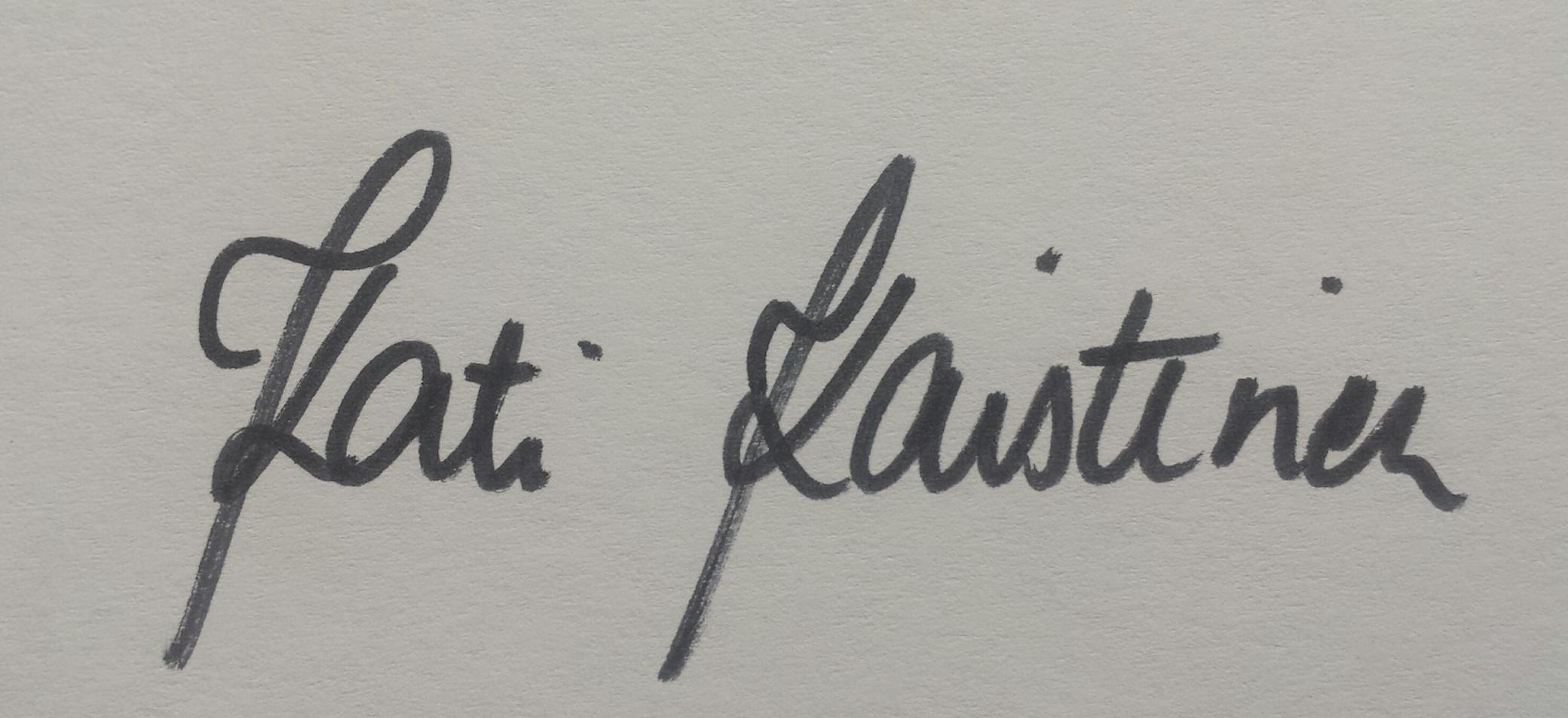 Kati Kaistinen Signature
