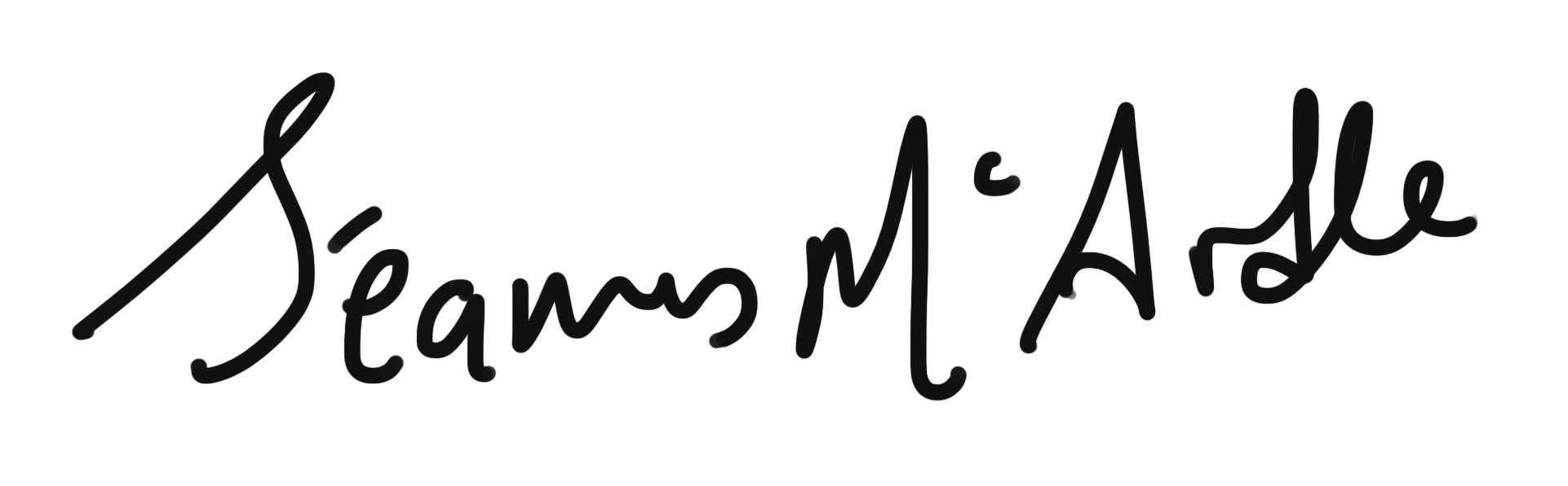Seamus Mc Ardle Signature