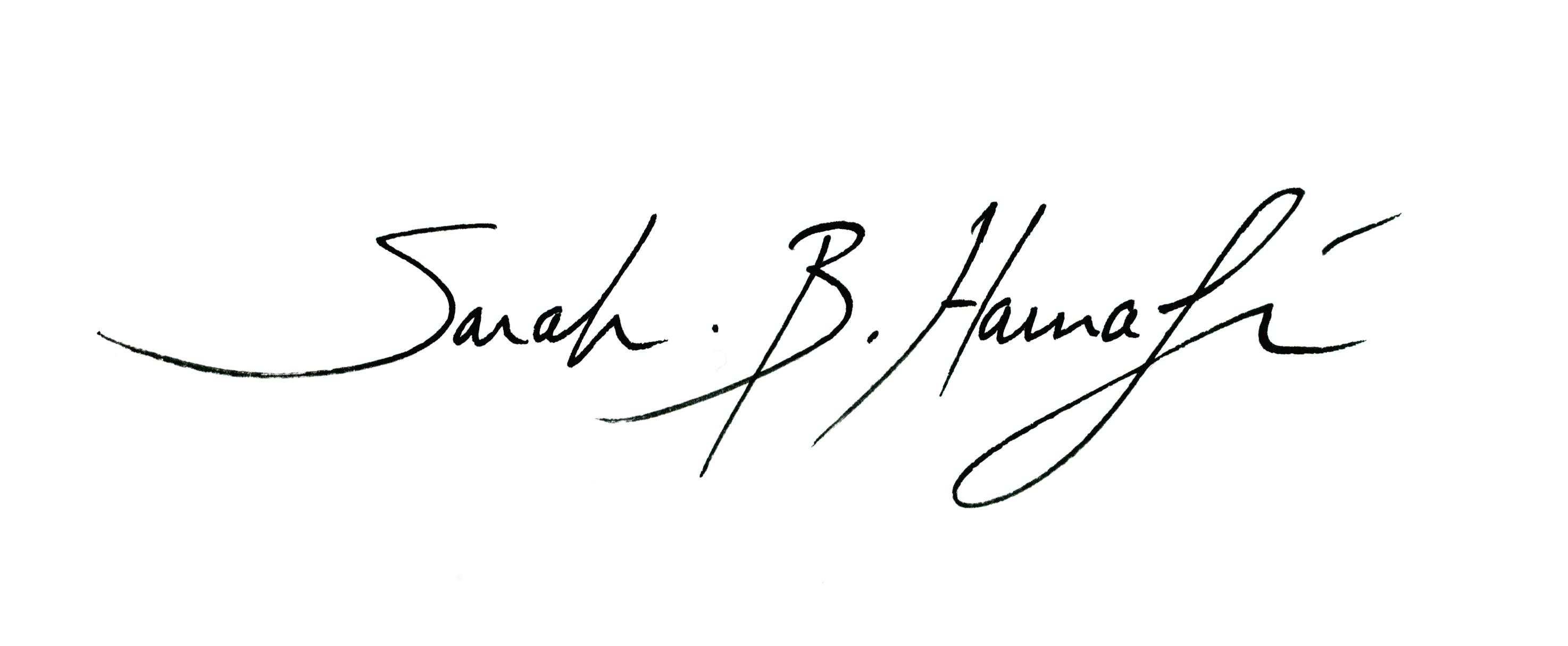 Sarah B. Harnafi Signature