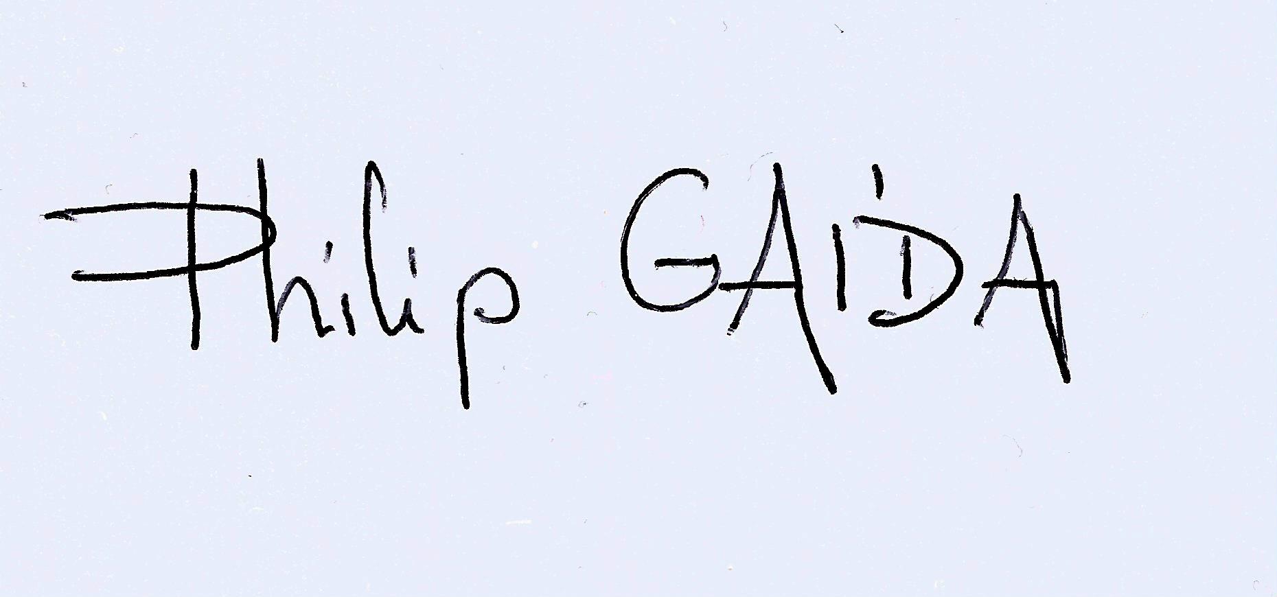 Philip Gaida Signature