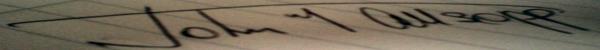 John Allsopp Signature