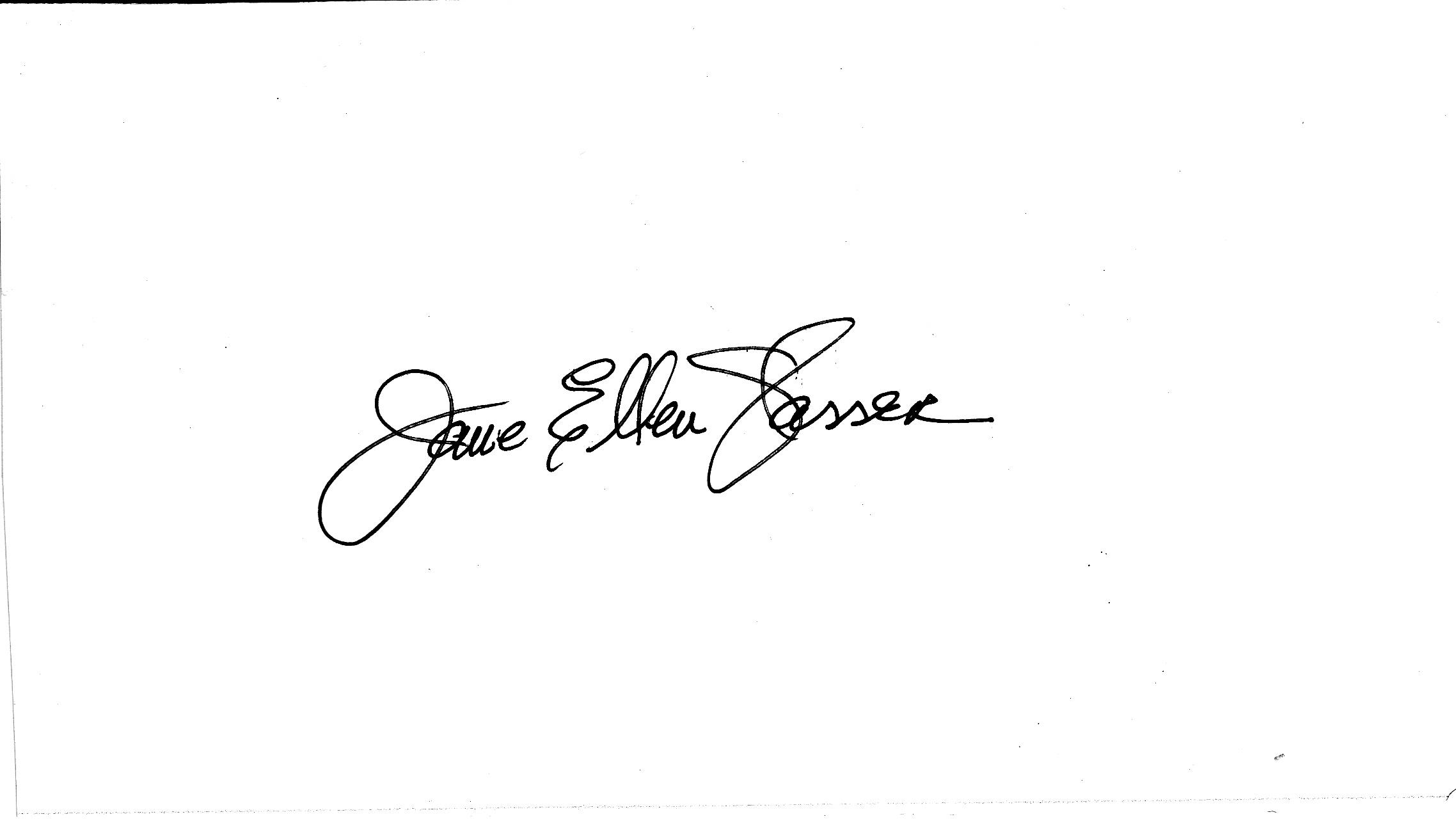 Jane Glasser Signature