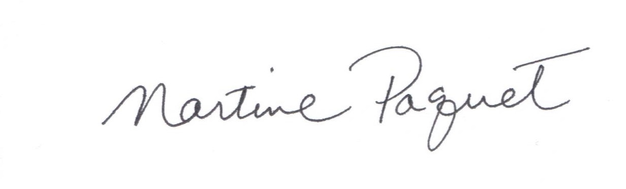 Martine Paquet Signature