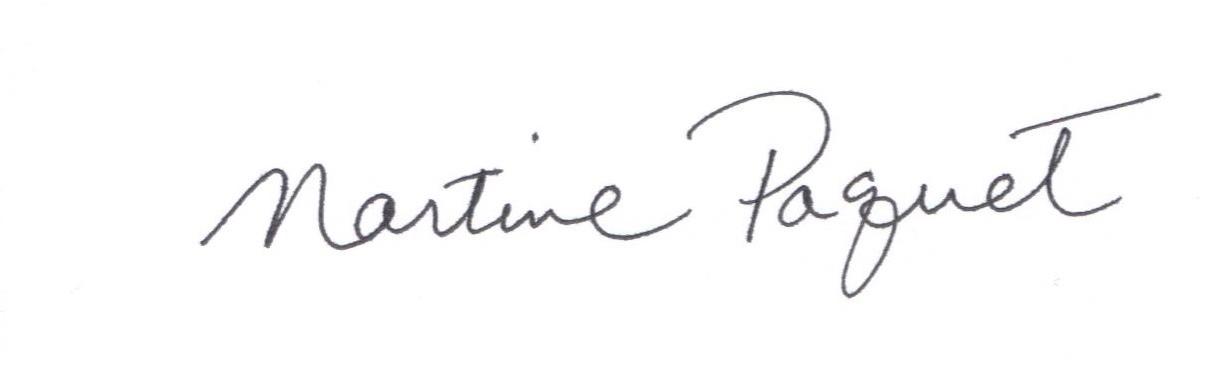 Martine Paquet Signature