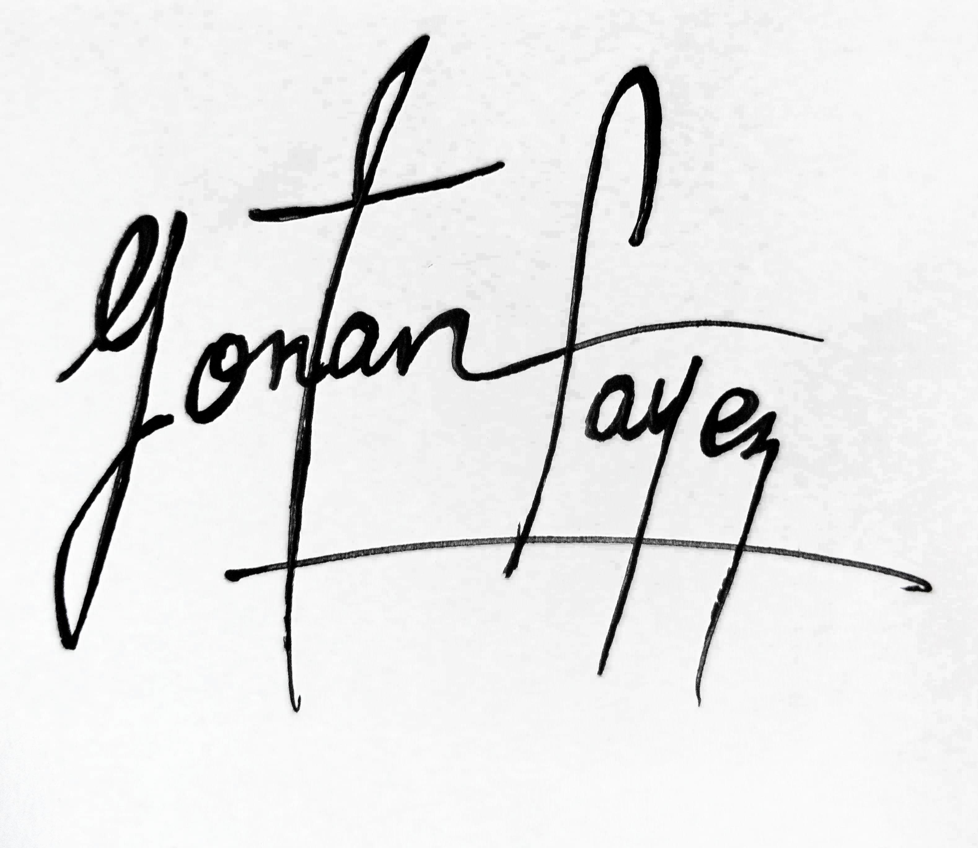 yONAN fAYEZ Signature